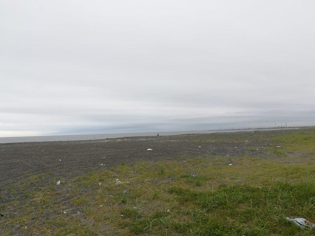 苫小牧の砂浜の景色