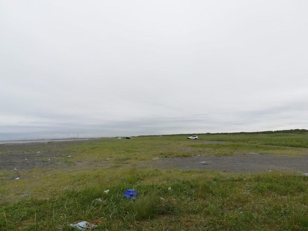 苫小牧の砂浜の光景